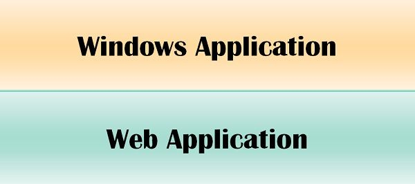 windows vs web application