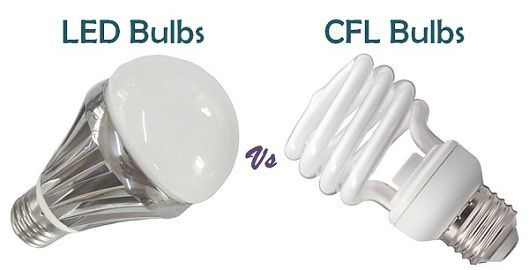 Difference Between LED and CFL bulbs (with Similarities ...