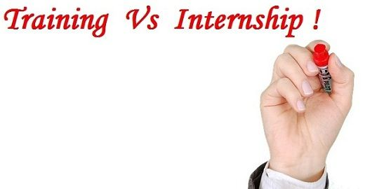 training vs internship