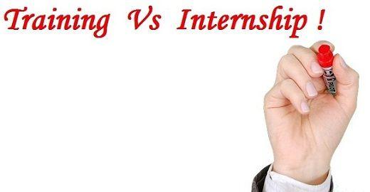 training vs internship