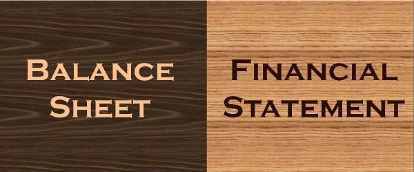 difference between balance sheet and financial statement with