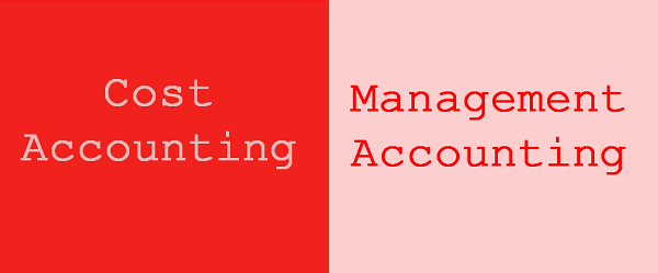 Cost vs management accounting