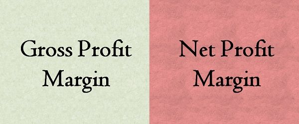 difference between gross profit margin and net profit margin with