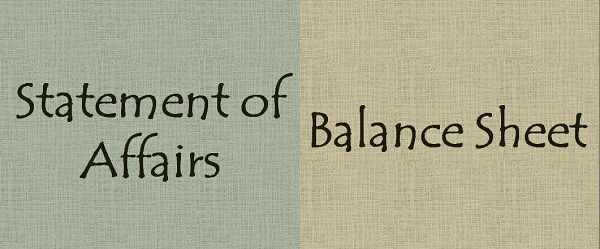 Statement of Affairs Vs Balance Sheet