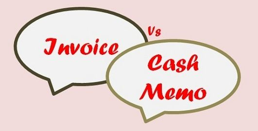 invoice vs cash memo