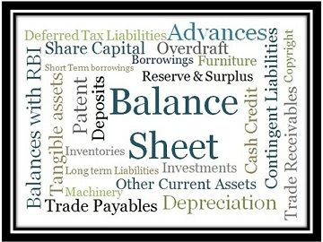 balance sheet of company vs bank