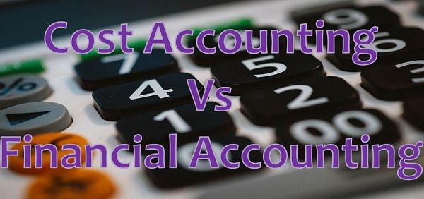 Cost vs financial accounting