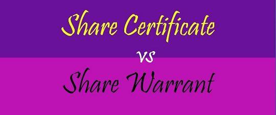 share warrant format