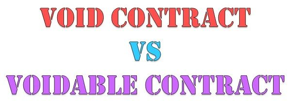 Difference Between Void Contract And Voidable Contract With