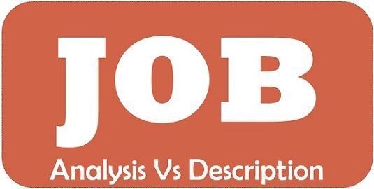 job analysis vs job description