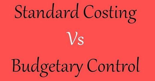 standard costing vs budgetary constrol