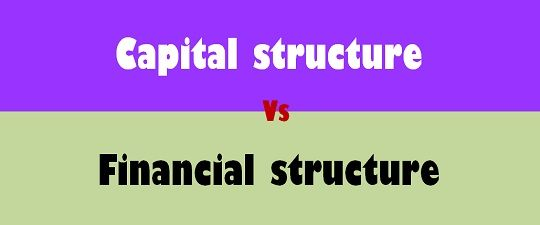 Difference Between Capital Structure And Financial Structure With Comparison Chart Key