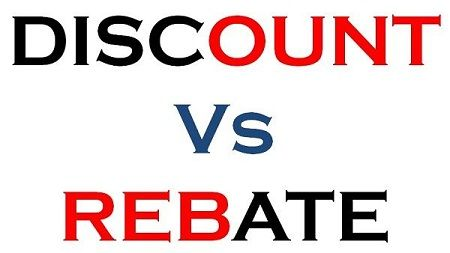 Discount Vs Rebate