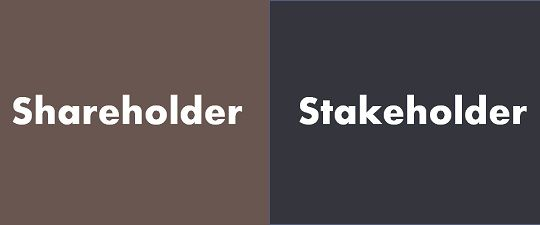 shareholder and stakeholders a stakeholder People often confuse the terms stakeholder and shareholder while a shareholder is a stakeholder, the two terms are entirely different stakeholder buy-in involves respect, mutually.