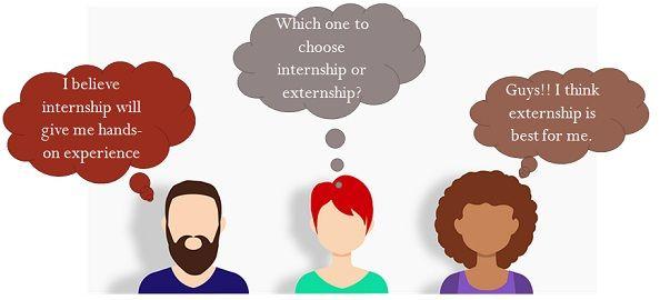 internship vs externship