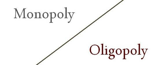 difference between monopoly and oligopoly example and  difference between monopoly and oligopoly example and comparison chart key differences