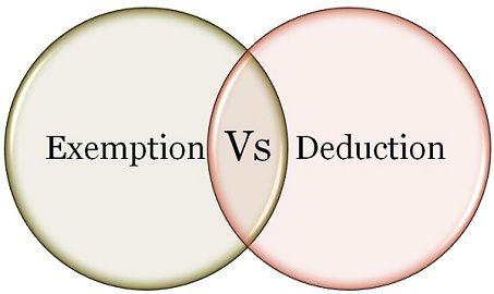 Deduction Vs Exemption