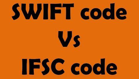 Swift code vs ifsc code