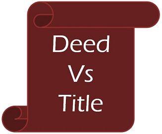 deed vs title
