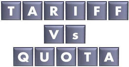 tariff vs quota