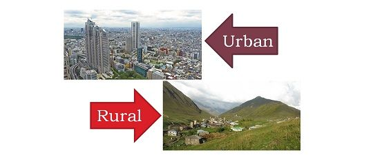rural life vs urban life A comparison of urban life with rural life bringing out the qualitative differences and facilities.