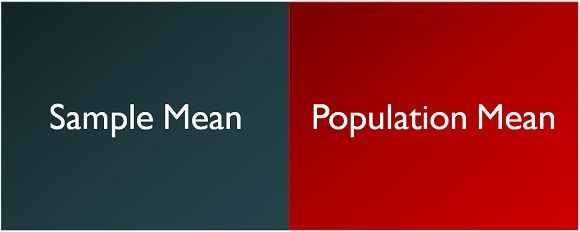 Difference Between Sample Mean And Population Mean With Comparison