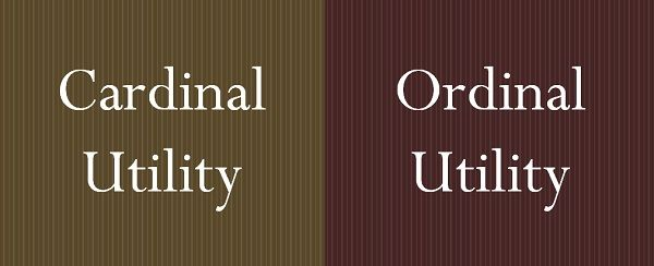 cardinal vs ordinal utility