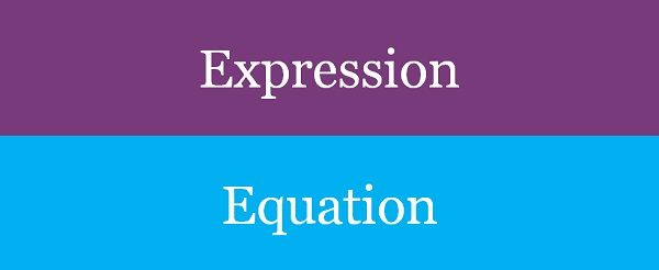 expression vs equation