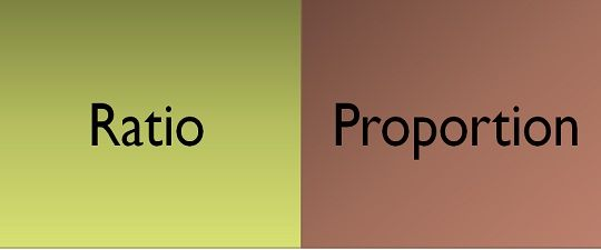 difference between ratio and proportion with comparison