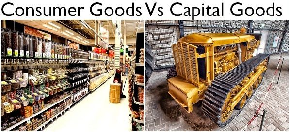 capital goods Finished goods can be divided into two categories: capital goods are products  that help increase the future production capacity of a country, for example,.