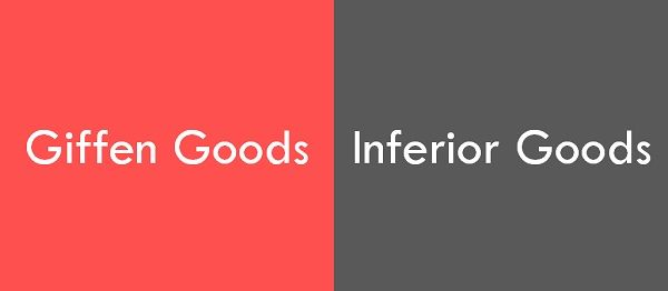 giffen vs inferior goods