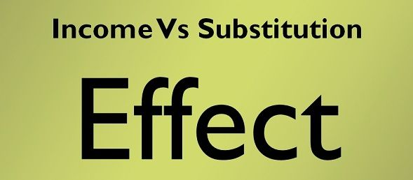 substitution and income effects Advertisements: the substitution and income affects from the price effect (inferior and giffen goods) we saw that a fall in the price of good x, given the price of y.