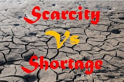 scarcity vs shortage
