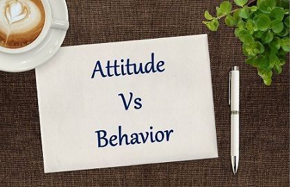 difference between attitude and behavior with comparison chart