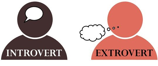 relationship between introvert and extrovert personality