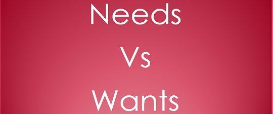 differentiate between needs wants and demands