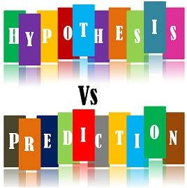hypothesis vs prediction