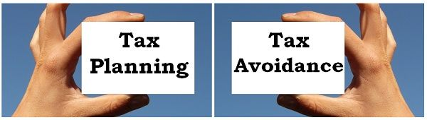 tax planning vs tax avoidance