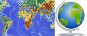 globe vs map