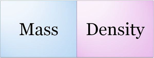 mass vs density