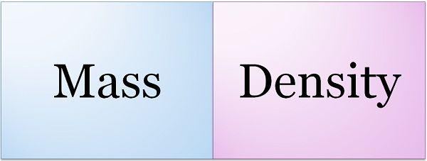 mass vs density