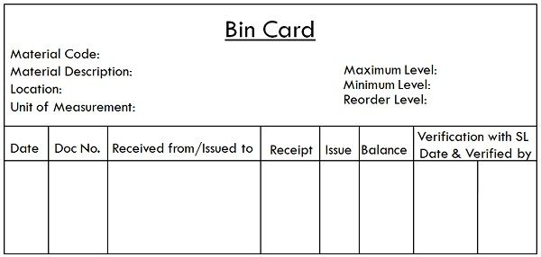 Difference Between Bin Card and Stores Ledger (with Comparison Chart ...