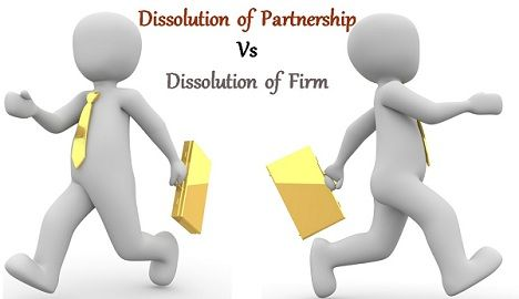 dissolution of partnership vs dissolution of firm