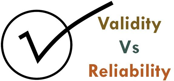 validity vs reliability