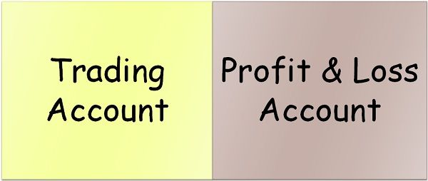 trading account vs profit & loss account