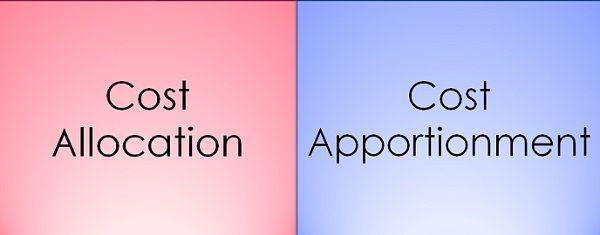 cost allocation vs cost apportionment