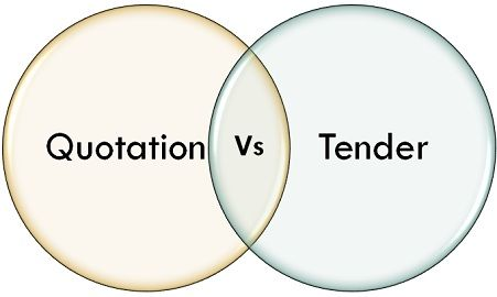 Difference Between Quotation And Tender With Comparison Chart Key Differences