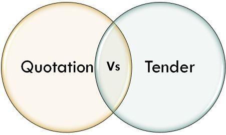 quotation vs tender