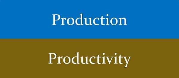 Production vs Productivity