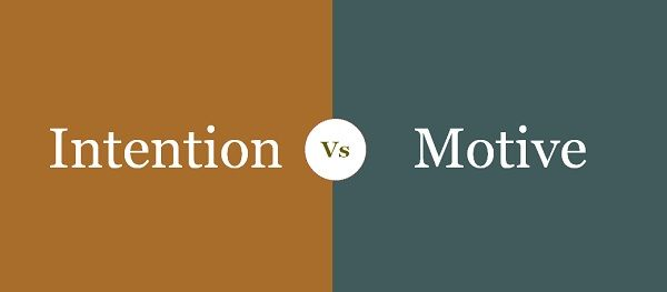 intention vs motive